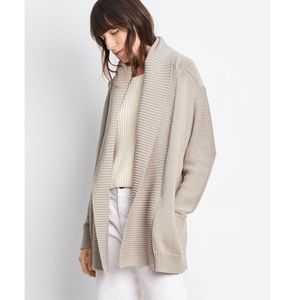 NEW • Vince • Chunky Knit Open Cardigan Fossil L